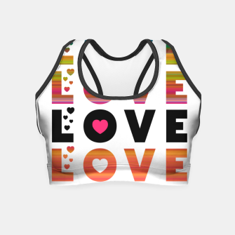 Thumbnail image of LOVE MOMENTS Crop Top, Live Heroes