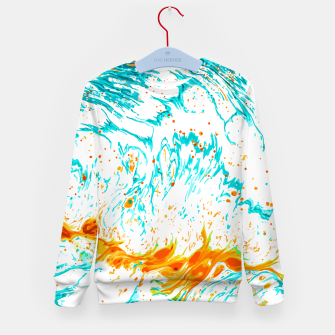 Thumbnail image of Waves of Thought Kid's sweater, Live Heroes