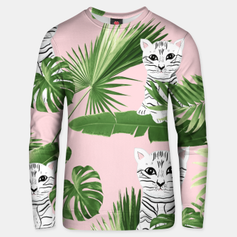 Imagen en miniatura de Baby Cat in the Jungle #1 (Kids Collection) #tropical #animal #decor #art  Unisex sweatshirt, Live Heroes