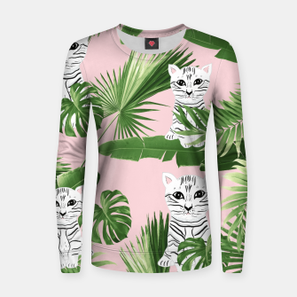 Imagen en miniatura de Baby Cat in the Jungle #1 (Kids Collection) #tropical #animal #decor #art  Frauen sweatshirt, Live Heroes