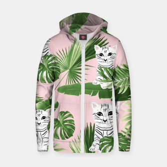 Imagen en miniatura de Baby Cat in the Jungle #1 (Kids Collection) #tropical #animal #decor #art  Reißverschluss kapuzenpullover, Live Heroes