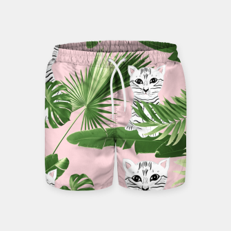 Miniaturka Baby Cat in the Jungle #1 (Kids Collection) #tropical #animal #decor #art  Badeshorts, Live Heroes