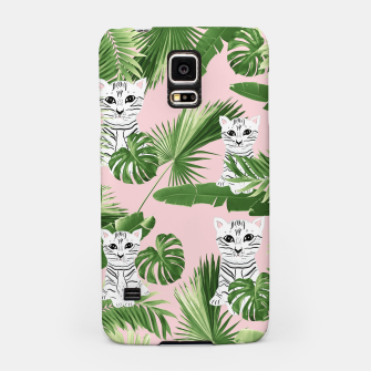Imagen en miniatura de Baby Cat in the Jungle #1 (Kids Collection) #tropical #animal #decor #art  Handyhülle für Samsung, Live Heroes