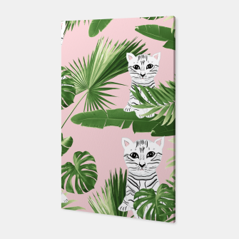 Imagen en miniatura de Baby Cat in the Jungle #1 (Kids Collection) #tropical #animal #decor #art  Canvas, Live Heroes