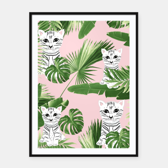 Imagen en miniatura de Baby Cat in the Jungle #1 (Kids Collection) #tropical #animal #decor #art  Plakat mit rahmen, Live Heroes