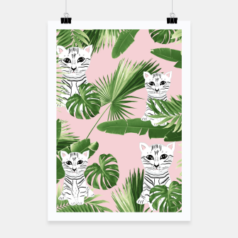 Imagen en miniatura de Baby Cat in the Jungle #1 (Kids Collection) #tropical #animal #decor #art  Plakat, Live Heroes