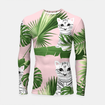 Imagen en miniatura de Baby Cat in the Jungle #1 (Kids Collection) #tropical #animal #decor #art  Longsleeve rashguard, Live Heroes