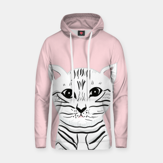 Imagen en miniatura de Baby Cat on Blush #1 (Kids Collection) #animal #decor #art Kapuzenpullover, Live Heroes