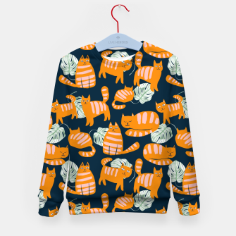 Thumbnail image of Whimsicat Kid's sweater, Live Heroes