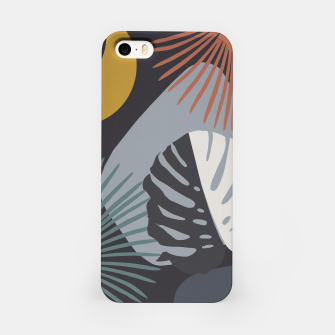 Miniatur Minimal Yin Yang Monstera Fan Palm Night Finesse #1 #tropical #decor #art  iPhone-Hülle, Live Heroes