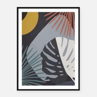 Miniatur Minimal Yin Yang Monstera Fan Palm Night Finesse #1 #tropical #decor #art  Plakat mit rahmen, Live Heroes