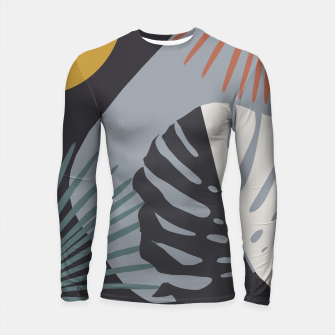 Miniatur Minimal Yin Yang Monstera Fan Palm Night Finesse #1 #tropical #decor #art  Longsleeve rashguard, Live Heroes