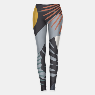 Miniatur Minimal Yin Yang Monstera Fan Palm Night Finesse #1 #tropical #decor #art  Leggings, Live Heroes
