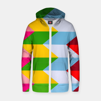 Thumbnail image of Mad Angle Zip up hoodie, Live Heroes