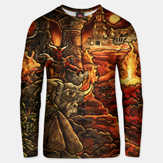 Miniatur Heroes 3 inferno puzzle map Bluza unisex, Live Heroes