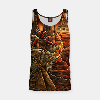 Miniatur Heroes 3 inferno puzzle map Tank Top, Live Heroes