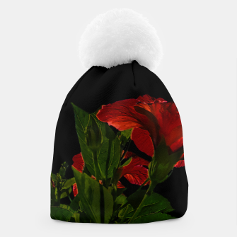 Thumbnail image of Dark Floral Photo Illustration Beanie, Live Heroes