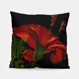 Thumbnail image of Dark Floral Photo Illustration Pillow, Live Heroes
