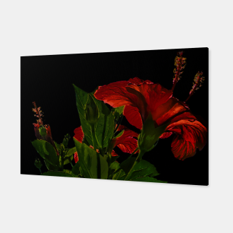 Thumbnail image of Dark Floral Photo Illustration Canvas, Live Heroes