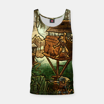 Miniatur Fortress heroes 3 puzzle map Tank Top, Live Heroes