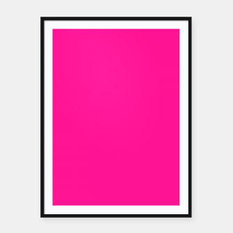 Thumbnail image of color deep pink Framed poster, Live Heroes