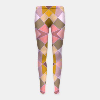 Thumbnail image of Cristal Texture pink Girl's leggings, Live Heroes
