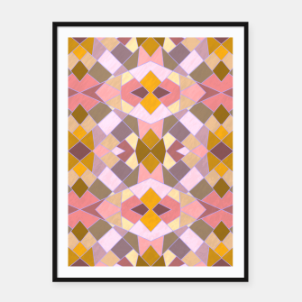 Thumbnail image of Cristal Texture pink Framed poster, Live Heroes