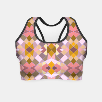 Thumbnail image of Cristal Texture pink Crop Top, Live Heroes