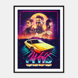 Thumbnail image of W O L F C L U B Album art Framed poster, Live Heroes