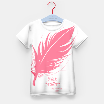 Thumbnail image of Pink Feather Kid's t-shirt, Live Heroes