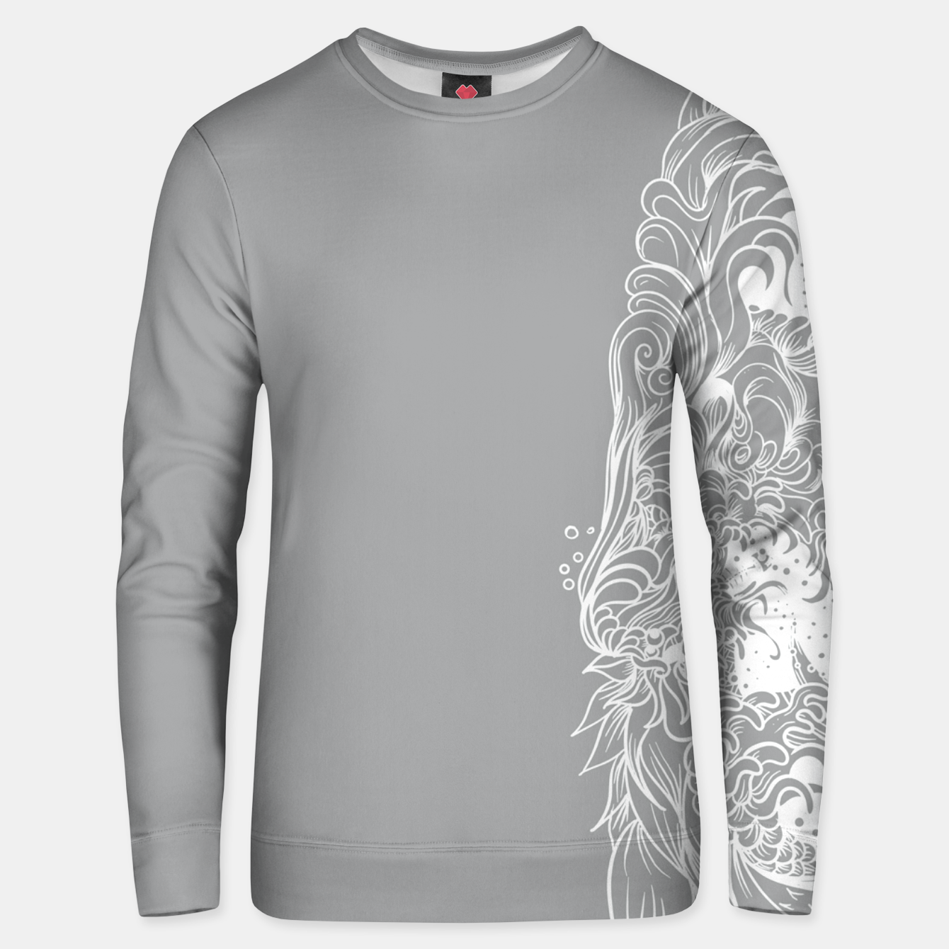Image of Sleeve Grey Unisex sweater - Live Heroes