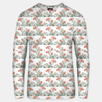 Thumbnail image of Photo Illustration Floral Motif Striped Design Unisex sweater, Live Heroes