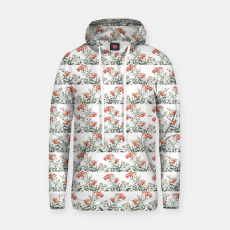 Photo Illustration Floral Motif Striped Design Hoodie thumbnail image