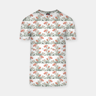 Photo Illustration Floral Motif Striped Design T-shirt thumbnail image