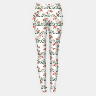Photo Illustration Floral Motif Striped Design Leggings thumbnail image