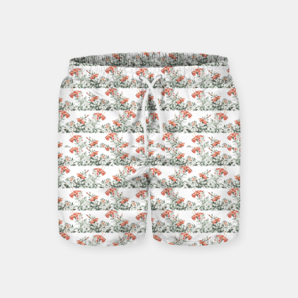 Photo Illustration Floral Motif Striped Design Swim Shorts thumbnail image