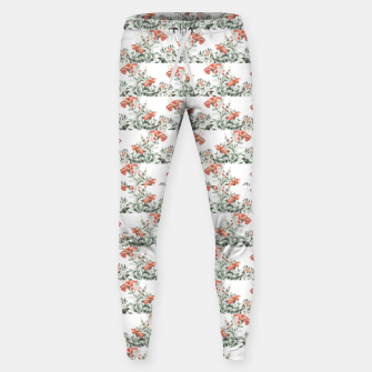 Photo Illustration Floral Motif Striped Design Sweatpants thumbnail image