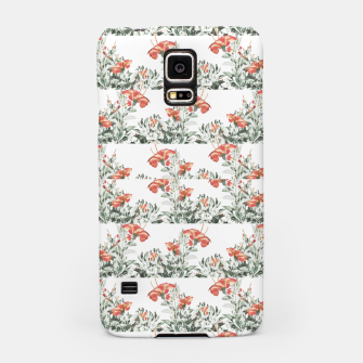 Photo Illustration Floral Motif Striped Design Samsung Case thumbnail image