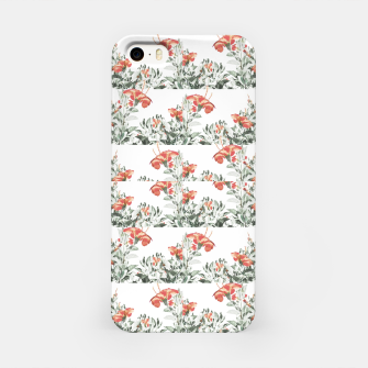 Photo Illustration Floral Motif Striped Design iPhone Case thumbnail image