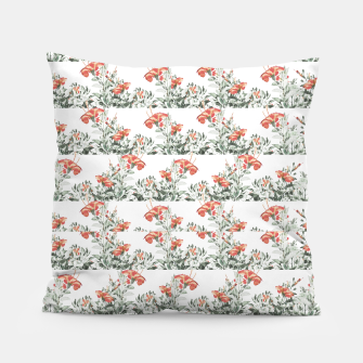 Photo Illustration Floral Motif Striped Design Pillow thumbnail image