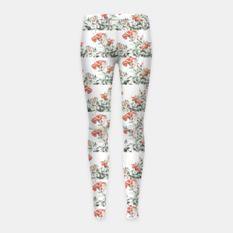 Photo Illustration Floral Motif Striped Design Girl's leggings thumbnail image
