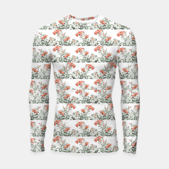Photo Illustration Floral Motif Striped Design Longsleeve rashguard  thumbnail image