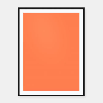 color coral Framed poster thumbnail image