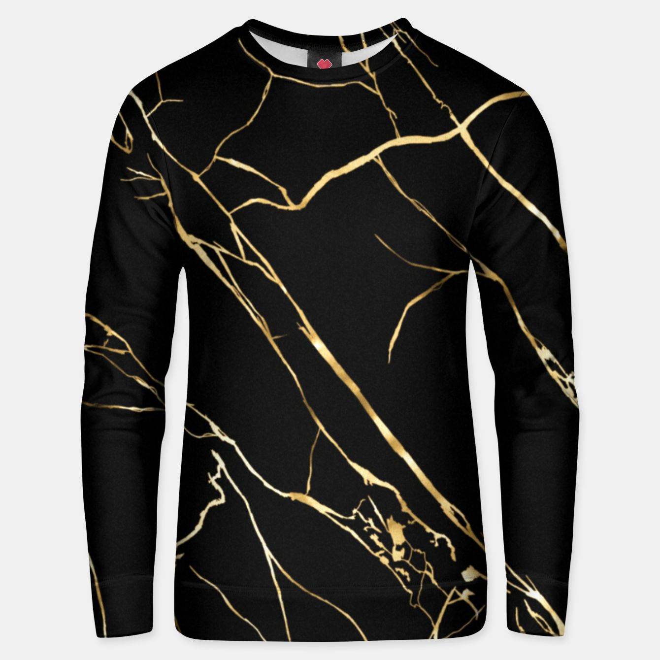 Image of Gold black Unisex sweater - Live Heroes