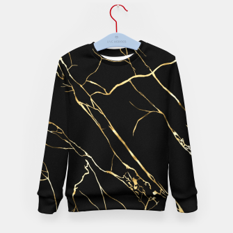 Thumbnail image of Gold black Kid's sweater, Live Heroes