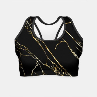 Thumbnail image of Gold black Crop Top, Live Heroes