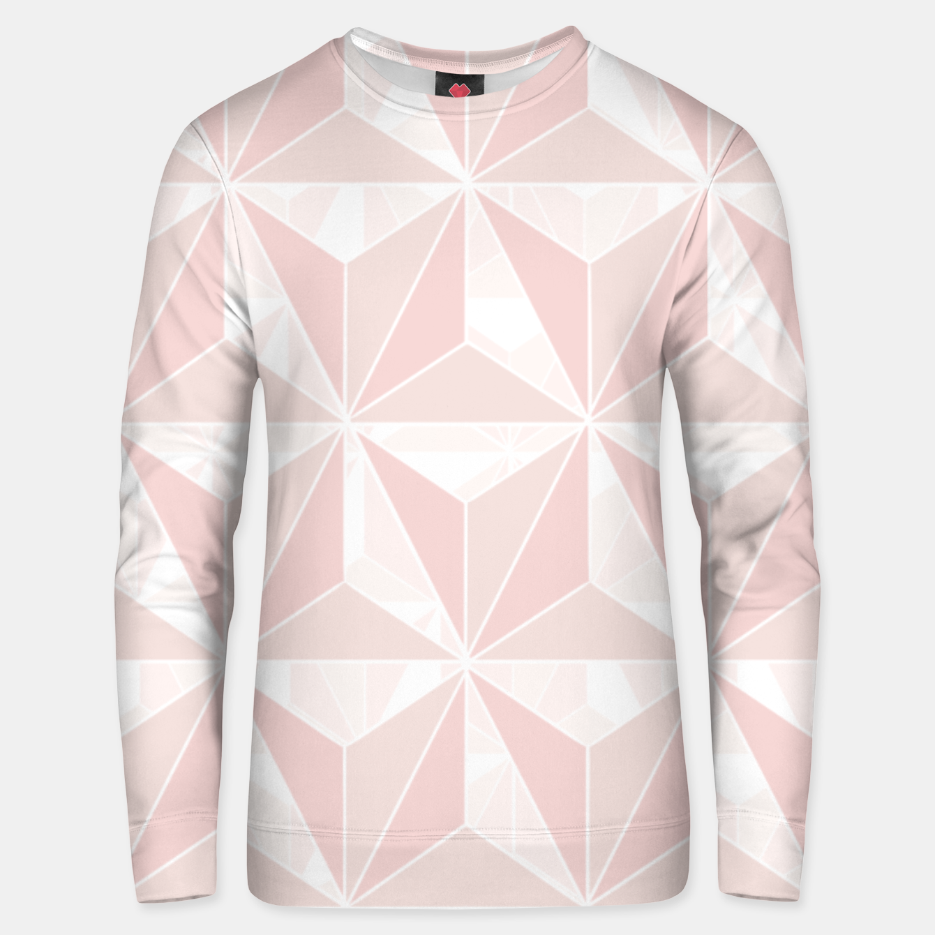 Image of Pink geometric  Unisex sweater - Live Heroes
