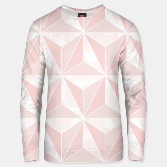 Thumbnail image of Pink geometric  Unisex sweater, Live Heroes