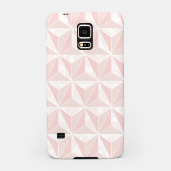 Miniatur Pink geometric  Samsung Case, Live Heroes