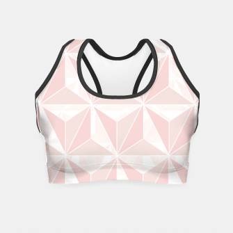 Thumbnail image of Pink geometric  Crop Top, Live Heroes